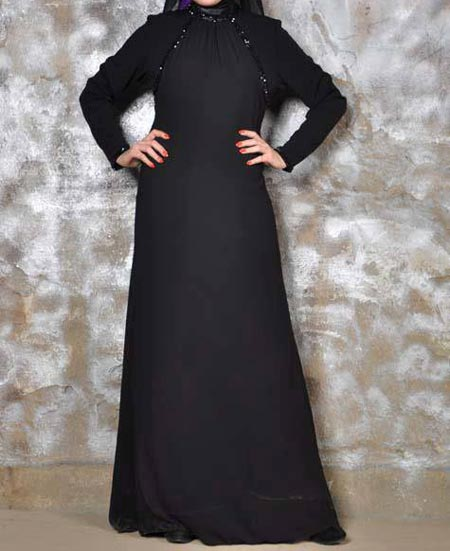 Black Casual Simple Abaya Designs 2016 2017 Burqa Burka Saudi Arabia UAE Dubai Qatar