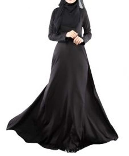 Black Casual Simple Abaya Designs 2016 2017 Burqa Burka Saudi Arabia UAE Dubai