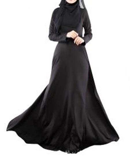 Black Casual Simple Abaya Designs 2016 2017 Burqa Burka Saudi Arabia UAE Dubai