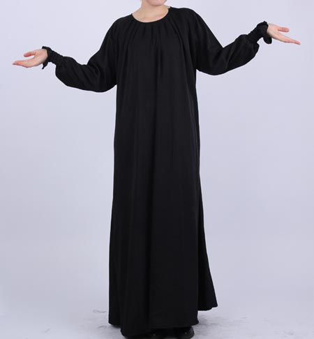 Black Simple Abaya Designs 2016 2017 Burqa Burka in Pakistan India Saudi Arab