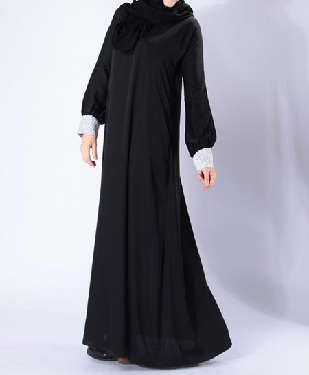 Black Simple Abaya Designs 2016 2017 Burqa Burka in Pakistan India Saudi Arabia