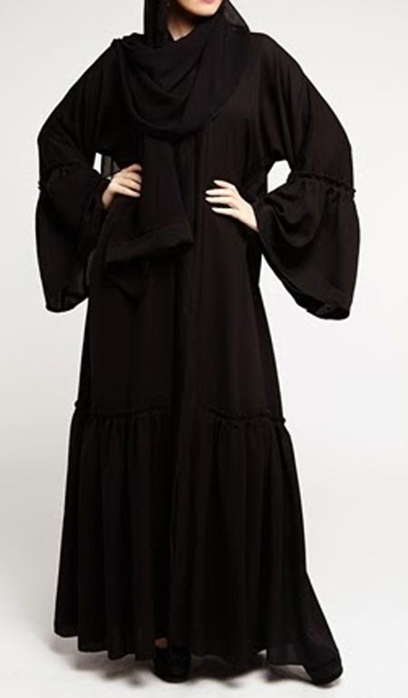 Dubai-Gulf-Black Simple Abaya Designs 2016 2017 Burqa Burka in Pakistan India Saudi Arabia
