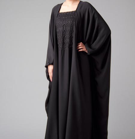 Islamic-Abaya-Black Simple Abaya Designs 2016 2017 Burqa Burka in Pakistan India Saudi Arabia