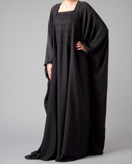 Islamic-Abaya-Black Simple Abaya Designs 2016 2017 Burqa Burka in Pakistan India Saudi Arabia