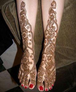 Latest-Pakistani-Indian-Dulhan-Mehndi-Design-for-Hands-Feet-Legs-2016-2017