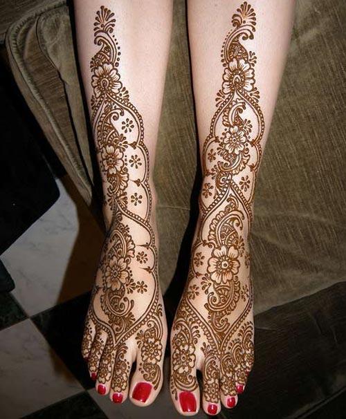 Mehndi Leg Design 2018 Latest Images : Latest dulhan mehndi design for full hands feet legs images