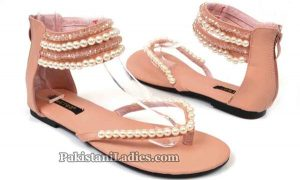 Metro Shoes Summer and Eid Collection 2016 with Prices Sandals for women Pearl-Work-1895