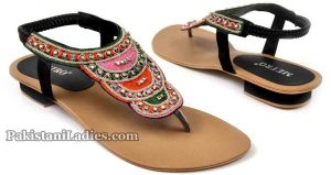 Multicolor-Sandal-PKR-2295Metro-Shoes-Summer-and-Eid-Collection-2016-2017-with-Prices