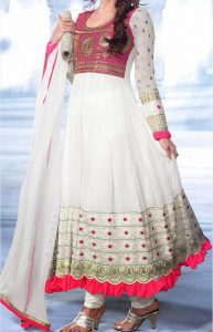 Latest Gowns Floor Length Anarkali Frocks Suits Indian Actress Dress 2017 2018 Dia Mirza White
