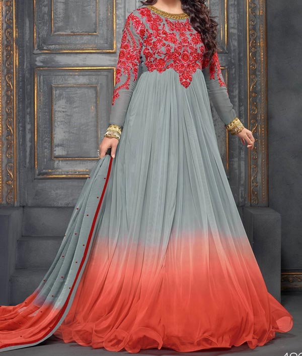 Latest Gowns Floor Length Anarkali Frocks Suits Indian Actress Dress 2017 2018