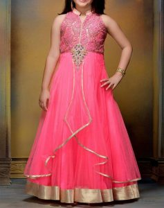 pakistani-indian-new-fashion-kids-girls-frock-dresses-suit-2017-2018-red-pink