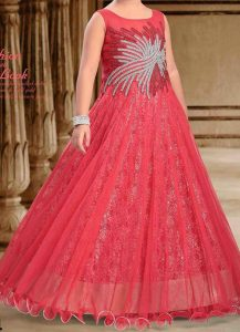 princess-frocks-for-kids-pakistani-indian-new-fashion-kids-girls-frock-dresses-suit-2017-2018-red