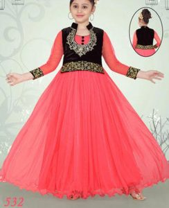 anarkali-frock-style-suit-pakistani-indian-new-fashion-kids-girls-frock-dresses-suit-2017-2018-red-pink