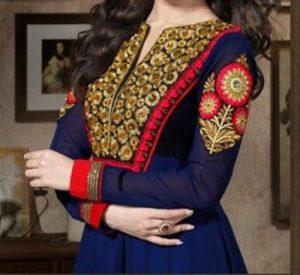 cotton-salwar-kameez-kurti-suit-churidar-neck-gala-designs-2017-patterns-book-gala-with-lace