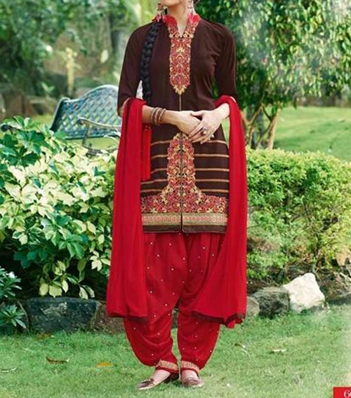 latest-patiala-salwar-kameez-suits-neck-designs-2017-fashion-party-wedding-black-maroon