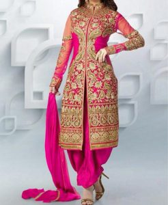 latest-patiala-salwar-kameez-suits-neck-designs-2017-fashion-party-wedding-pink