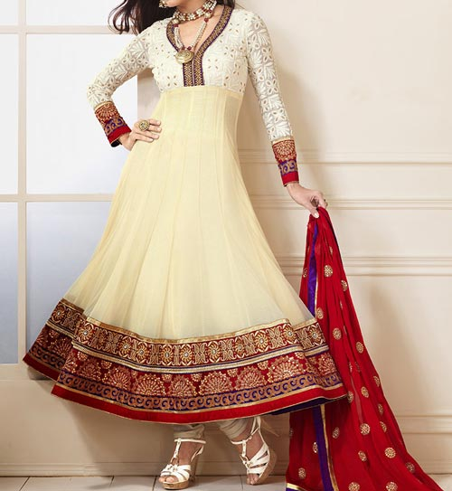 off-white-cream-umbrella-frock-design-anarkali-churidar-suits-salwar-kameez-2017-2018