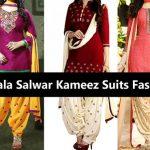 Latest Patiala Salwar Kameez Suits Fashion 2017 & Neck Designs