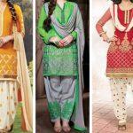 Punjabi Party Wear Salwar Kameez 2017, Suit Neck Designs Photos