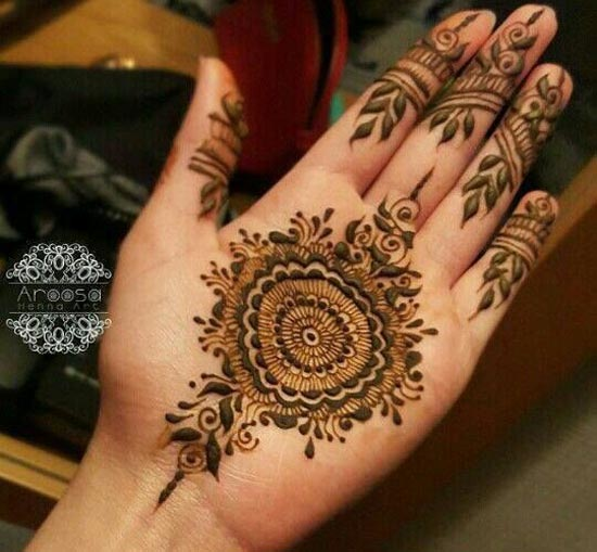 Simple Mehndi Designs For Hands 2017: New Simple Indian Mehndi Designs for Hands Feet 2017 Cataloguerh:pakistaniladies.com,Design