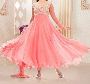 umbrella-frock-design-anarkali-churidar-suits-salwar-kameez-2017-2018-pink
