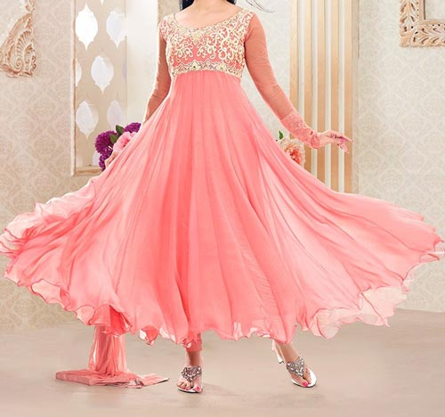 umbrella-frock-design-anarkali-churidar-suits-salwar-kameez-2017-2018-pink