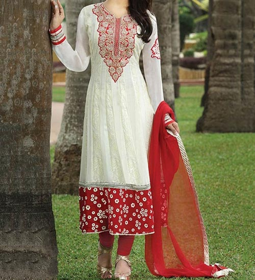 umbrella-frock-design-anarkali-churidar-suits-salwar-kameez-2017-2018-white-red