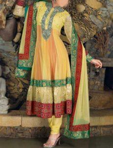 umbrella-frock-design-anarkali-churidar-suits-salwar-kameez-2017-2018-yellow