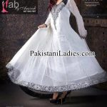 Fancy White Dress Wedding Umbrella Frocks Churidar