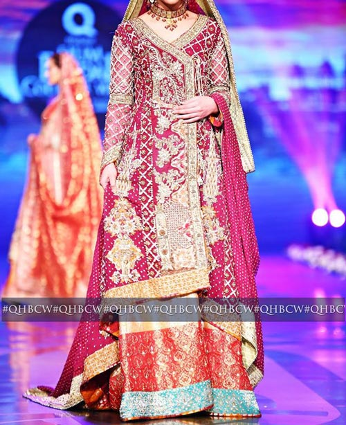 Bridal Couture Week 2016 2017 Wedding Dresses Fashion Trend in Pakistan Lehenga 3