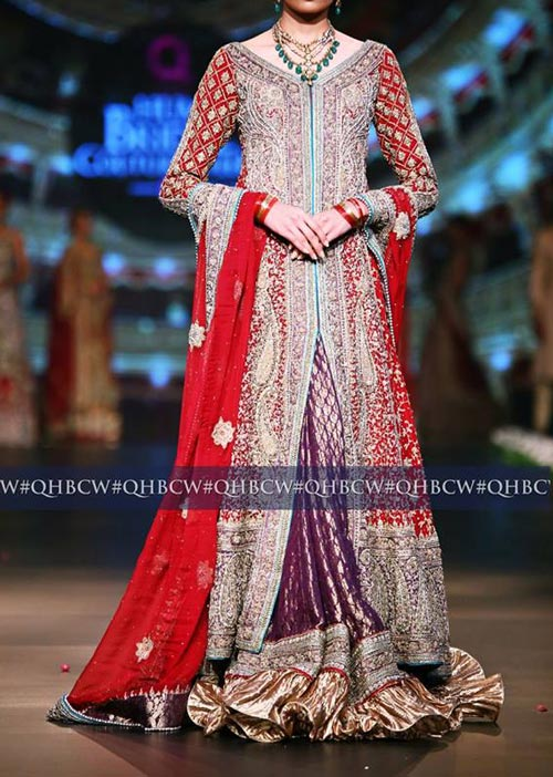 Bridal Couture Week 2016 2017 Wedding Dresses Fashion Trend in Pakistan Open Gown