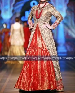 Bridal Couture Week 2016 2017 Wedding Dresses Fashion Trend in Pakistan Open Style Gown
