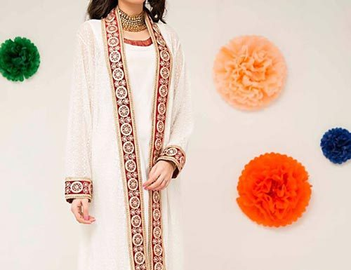 latest-fashion-front-open-double-net-shirt-style-dresses-2017-2018-white