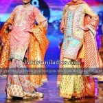 Latest Bridal Sharara Gharara Dress Design 2017 for Mehndi Wedding