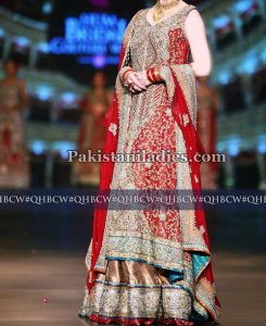 net-bridal-lehenga-fashion-2017-wedding-party-dresses-with-cut-work-pakistan