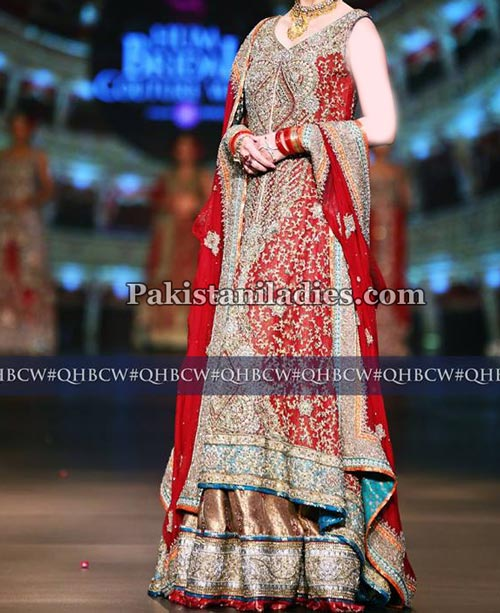 net-bridal-lehenga-fashion-2017-wedding-party-dresses-with-cut-work-pakistan