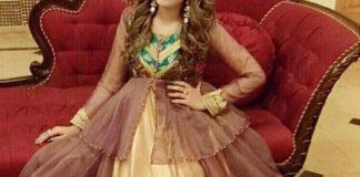 Net Dresses Designs 2017 2018, Net Frocks Gown, Shalwar Kameez Brown