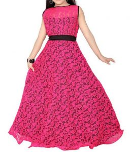 Latest Party Wedding Long frocks designs Collection 2017 2018 kids Teenagers Pink 2