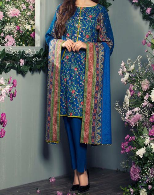 Al Karam Summer Lawn Collection 2017 Prices -2400