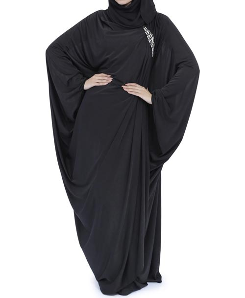 Outlet New Jersey >> Latest Saudi Abaya Designs Fashion 2017 2018 Simple Black Burqa