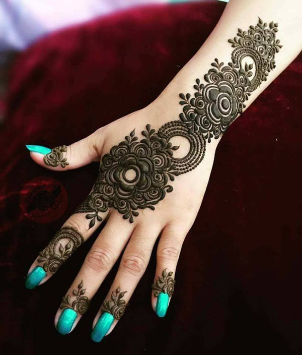 Latest New Henna Mehndi Designs 2018 2019 Catalog Book Image