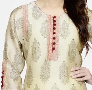 New Neck Design 2018 2019 for Salwar Kameez with Buttons & Piping Churidar Gala Style 6