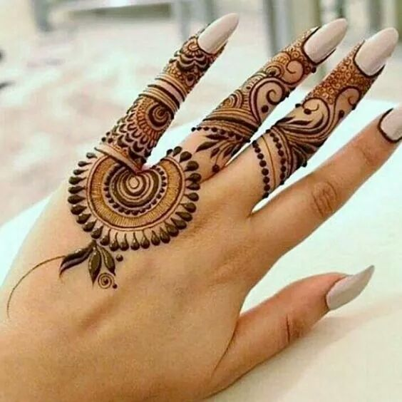 50 simple mehndi designs collection 2018 how to draw them at home. Black Bedroom Furniture Sets. Home Design Ideas