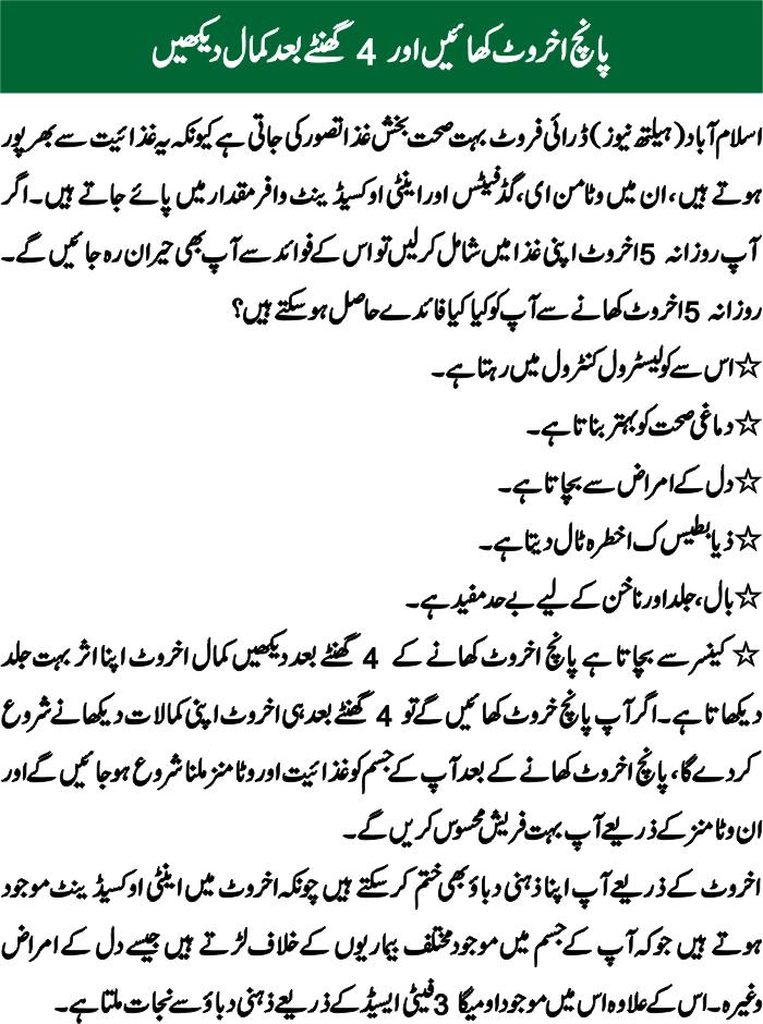 Akhrot khane ke Fayde